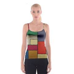 Color Block Art Painting Spaghetti Strap Top