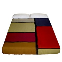 Color Block Art Painting Fitted Sheet (king Size) by goodart