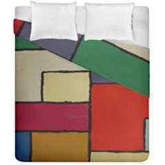Color Block Art Painting Duvet Cover Double Side (california King Size) by goodart