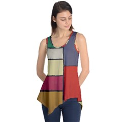 Color Block Art Painting Sleeveless Tunic