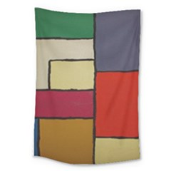 Color Block Art Painting Large Tapestry by goodart
