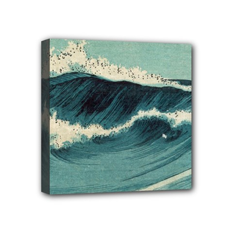 Waves Painting Mini Canvas 4  X 4