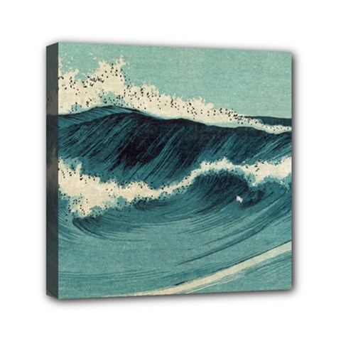 Waves Painting Canvas Travel Bag