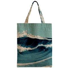 Waves Painting Zipper Classic Tote Bag