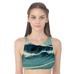 Waves Painting Tank Bikini Top