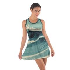 Waves Painting Cotton Racerback Dress