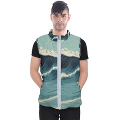 Waves Painting Men s Puffer Vest