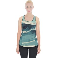 Waves Painting Piece Up Tank Top