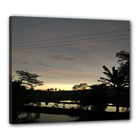 Photography Sunset Canvas 24  X 20