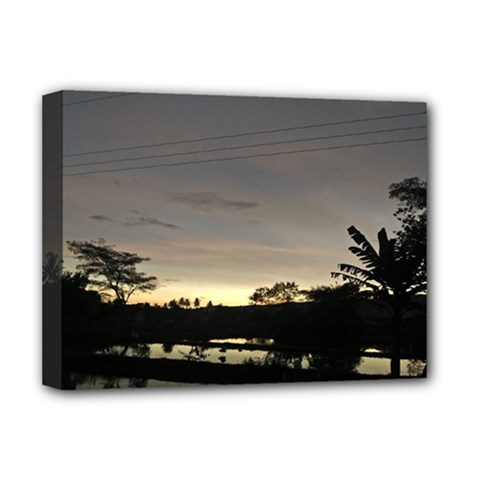 Photography Sunset Deluxe Canvas 16  X 12