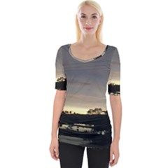 Photography Sunset Wide Neckline Tee