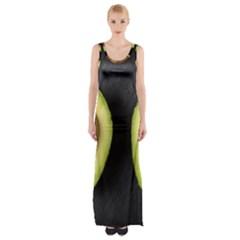 Fruit Avocado Maxi Thigh Split Dress