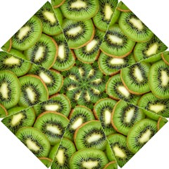 Sliced And Open Kiwi Fruit Golf Umbrellas by goodart