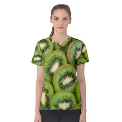 Sliced And Open Kiwi Fruit Women s Cotton Tee