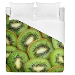Sliced And Open Kiwi Fruit Duvet Cover (queen Size) by goodart