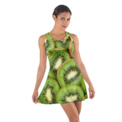 Sliced And Open Kiwi Fruit Cotton Racerback Dress