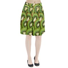 Sliced And Open Kiwi Fruit Pleated Skirt by goodart