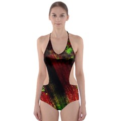 Secret Sign Of Masons 6 Cut Out One Piece Swimsuit