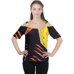 Cryptography Of The Planet 2 Cutout Shoulder Tee