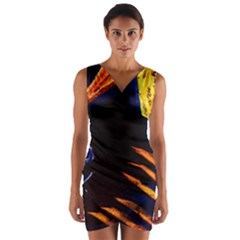 Cryptography Of The Planet 2 Wrap Front Bodycon Dress