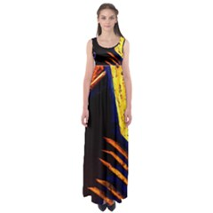 Cryptography Of The Planet 2 Empire Waist Maxi Dress