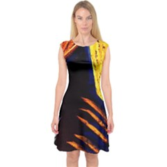 Cryptography Of The Planet 2 Capsleeve Midi Dress