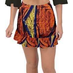 Cryptography Of The Planet 9 Fishtail Mini Chiffon Skirt