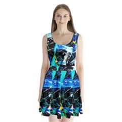 My Brain Reflecrion 1/1 Split Back Mini Dress