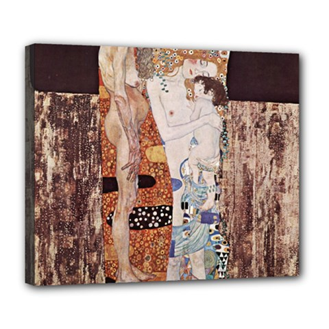 The Three Ages Of Woman  Gustav Klimt Deluxe Canvas 24  X 20   by Valentinaart