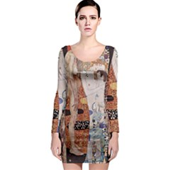 The Three Ages Of Woman  Gustav Klimt Long Sleeve Bodycon Dress