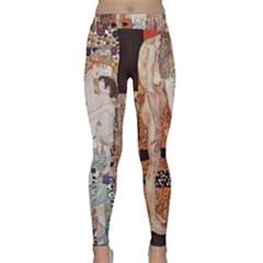 The Three Ages Of Woman  Gustav Klimt Classic Yoga Leggings