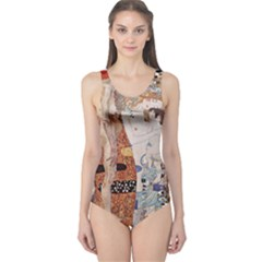 The Three Ages Of Woman  Gustav Klimt One Piece Swimsuit