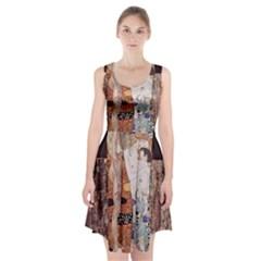 The Three Ages Of Woman  Gustav Klimt Racerback Midi Dress