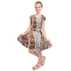 The Three Ages Of Woman  Gustav Klimt Kids  Short Sleeve Dress