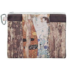 The Three Ages Of Woman  Gustav Klimt Canvas Cosmetic Bag (xxl) by Valentinaart