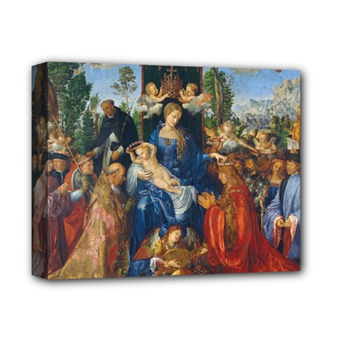 Feast Of The Rosary   Albrecht Dürer Deluxe Canvas 14  X 11  by Valentinaart