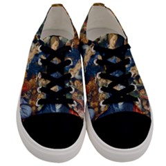 Feast Of The Rosary   Albrecht D¨1rer Men s Low Top Canvas Sneakers