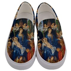 Feast Of The Rosary   Albrecht D¨1rer Men s Canvas Slip Ons