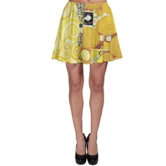 The Embrace   Gustav Klimt Skater Skirt