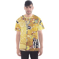 The Embrace   Gustav Klimt Men s Sports Mesh Tee