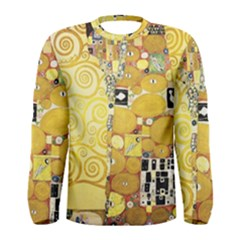 The Embrace   Gustav Klimt Men s Long Sleeve Tee