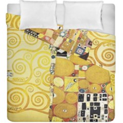 The Embrace   Gustav Klimt Duvet Cover Double Side (king Size) by Valentinaart