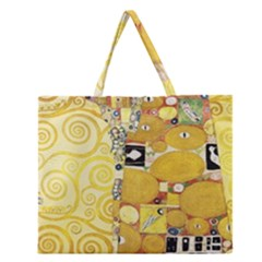 The Embrace   Gustav Klimt Zipper Large Tote Bag
