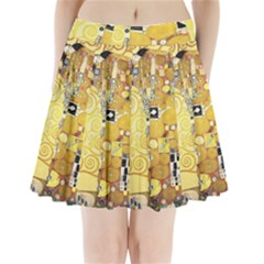 The Embrace   Gustav Klimt Pleated Mini Skirt