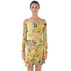 The Embrace   Gustav Klimt Off Shoulder Top With Skirt Set