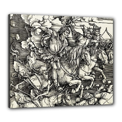 Four Horsemen Of The Apocalypse   Albrecht D¨1rer Canvas 24  X 20