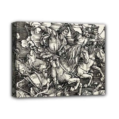 Four Horsemen Of The Apocalypse   Albrecht Dürer Deluxe Canvas 14  X 11  by Valentinaart