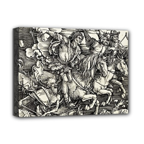 Four Horsemen Of The Apocalypse   Albrecht D¨1rer Deluxe Canvas 16  X 12