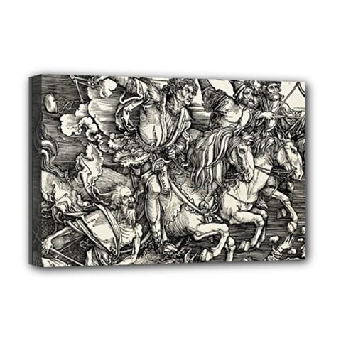 Four Horsemen Of The Apocalypse   Albrecht D¨1rer Deluxe Canvas 18  X 12