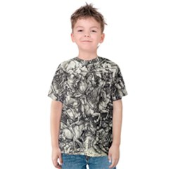 Four Horsemen Of The Apocalypse   Albrecht D¨1rer Kids  Cotton Tee